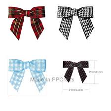 pre bows 3 8 200pcs pre tiny gingham checkered bows satin dots