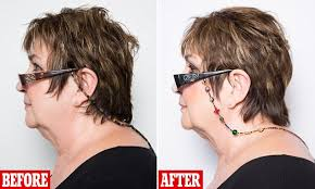hair style and gap between chin and ear lobe ultimate guide to anti ageing with a youthful decollectage and how