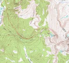 Topography Map Topographic Map Of The Timber Lake Trail Rocky Mountain National