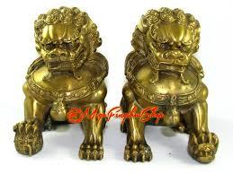 fu dogs of brass feng shui fu dogs l