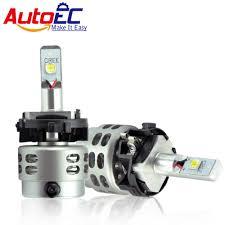 Led Head Light Bulbs by Autoec Car Led Headlight Kit H7 H7ll 80w 5000lm High Power Led Hi