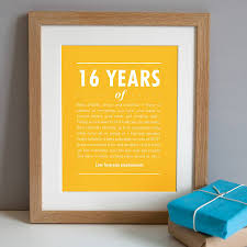 personalised 16th birthday print by elephant grey