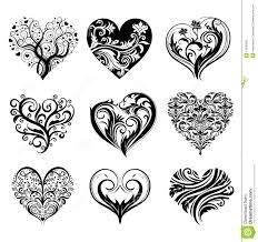 tattoo hearts royalty free stock photo image 14932865