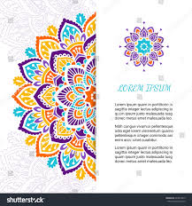 indian style colorful ornate mandala card stock vector 640619815