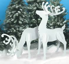 large white reindeer wood patterns one one of my best
