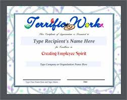 employee appreciation certificate template free safety