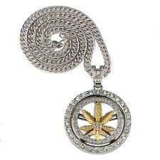 man gold necklace wholesale images Hip hop spinning snake chain marijuana gold leaf pendant necklace jpg