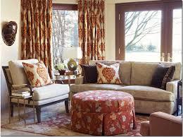 Burnt Orange Curtains Orange Patterned Curtains Interior Design