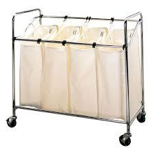Laundry Hamper Replacement Bags by Seville Classics 3 Bag Tilt Laundry Sorter Web250 The Home Depot