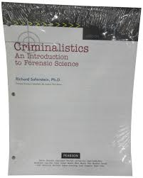 criminalistics an introduction to forensic science student value
