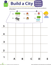 mapping coordinates build a city geometry worksheets