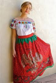 collectors mexican china poblana costume sequined skirt