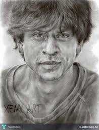 new srk pencil sketch drawing shah rukh khan bollywood realism