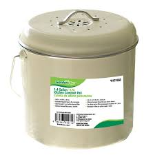 compost canister kitchen shop garden plus 1 4 gallon kitchen compost pail at lowes