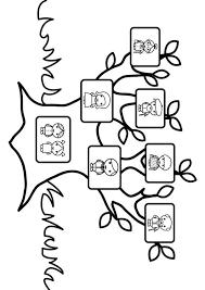 family tree coloring pages stamboom met familie dit ben ik kleurplaten pinterest