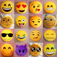 round crooked smile pattern squinting eyes emoticon plush stuffed