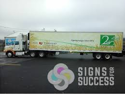 semi trailer truck semi trailer wraps feature sponsors signs for success