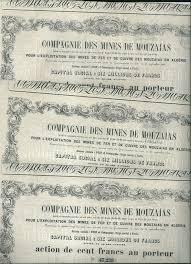 u siege social algeria 3 x compagnie des mines des mouzaias 1853 algérie catawiki