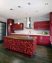 Gloss Red Kitchen Doors - enchanting ideas for red kitchen cabinets design home furniture
