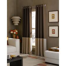 bali window treatments the home depot sheer kendall chocolate polyester gabardine color block grommet curtain 1