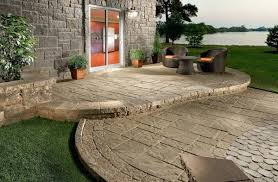 concrete decks and patios concrete stamped concrete patio steps