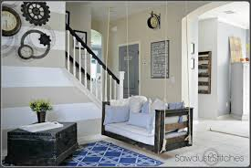 home tour front entry natural linen and pure white