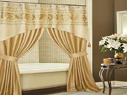 Curtain Ideas For Bathroom Bathroom Shower Curtain Ideas Shower Curtain Valance Houzz Shower