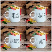 rae dunn inspired halloween mug decal set of 4 stickie