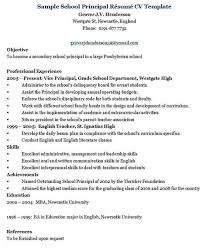 Principal Resume Template Principal Administrator Resume Template