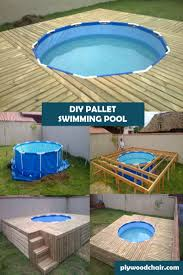 Diy Backyard Pool by Brilliant Diy Pallet Outdoor Swimming Pool Project Plywoodchair Com