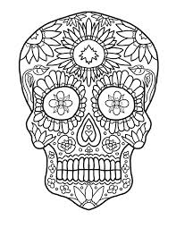 78 scary coloring books images sugar skulls