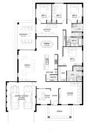 Split Level House Plans Floor 4 Bedroom Detached Garage With