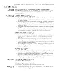 Logistic Resume Samples by Logistics Resume Objective Examples Free Resume Example And