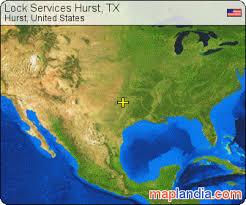 hurst map lock services hurst tx hurst satellite map