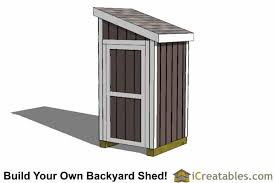 Diy Lean To Storage Shed Plans by 4x4 Lean To Shed Small Shed Plans Garden Shed Icreatables