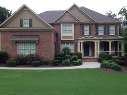 exterior paint color ideas with red brick blogbyemy com