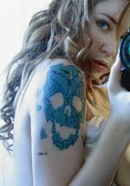 butterfly skull shape design tattoomagz