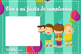 imagenes cumpleaños niños niños con globos 22 invitaciones para cumpleaños para imprimir