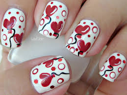 how to paint sweet valentine heart balloons nail art manicure and