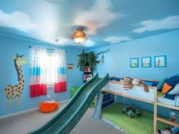 Bedroom Painting Wall Snazzy Kids Bedroom Paint Idea With Green Chest Of
