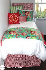 girls bedding collections coral teal floral bouquet designer teen bedding set