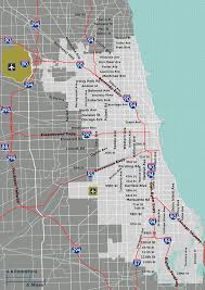 Map Of City Of Chicago by Map Of Chicago City Limits Chicago Map