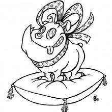 dog cat ball coloring pages hellokids