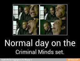 Criminal Minds Meme - haha just a normal day on the criminal minds set criminal