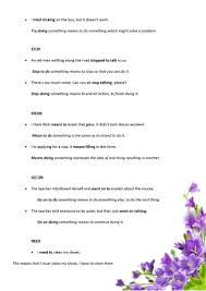 Gerund Or Infinitive Worksheet Gerunds And Infiitivies Remember Forget Regret Try Stop Mean