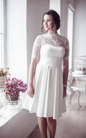 short length wedding gowns with sleeve mini length sleeves