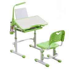 ergonomic children kids study table chair set free led lamp