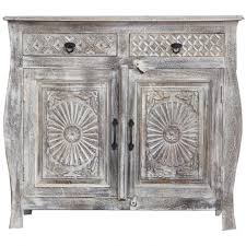 colonial style carved sideboard rustic white