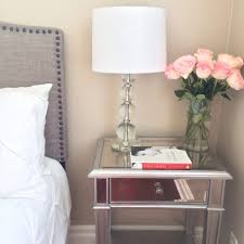 nightstand attractive target mirrored furniture with cream wall