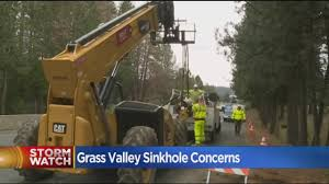 New York Sinkhole Map by Grass Valley Sink Hole Raising Concerns For Highway 49 Cbs13